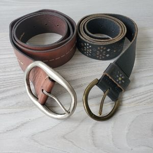 FOSSIL 2 leather belts